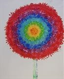 Rainbow Flower Series 3 by Wilma Seston, Artist Print, Hand Print
