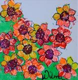 Rainbow Flowers Series 6 by Wilma Seston, Artist Print