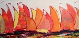 Regatta O by Wilma Seston, Painting, Mixed Media