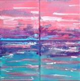 Seascape 2 by Wilma, Painting, Acrylic and Ink on canvas