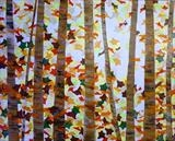 Autumn Forest by Wilma Seston, Painting, Mixed Media on Canvas