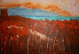 Poppies Next-the-sea by Wilma, Painting, Acrylic on canvas
