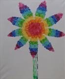 Rainbow Flower Series 2 by Wilma Seston, Painting, Acrylic on canvas