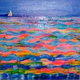 Sea & Sail by Wilma, Painting, Mixed Media on Canvas