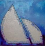 Sea & Sail 2 by Wilma, Painting, Acrylic and Ink on canvas