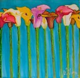 Valley of Lilies by Wilma, Painting, Mixed Media on Canvas