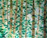 Spring Forest by Wilma Seston, Painting, Mixed Media on Canvas