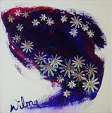 Starry Flowers by Wilma, Painting, Acrylic on canvas