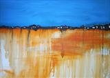 Sunset-on-Sea Series 1 by Wilma, Painting, Mixed Media on Canvas