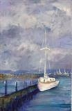 Tollesbury Quiet Moorings by Wilma Seston, Painting